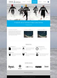 Página web en WordPress de la Travesía a Nado Costa Serena (Vigo, Pontevedra, España)