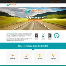 Página web en WordPress de la empresa Transportes Julio Rico (Sada, A Coruña, España)