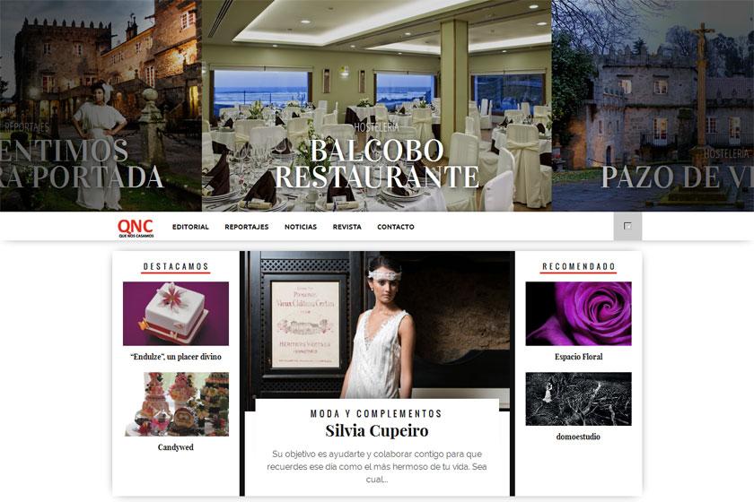 La revista 'Que nos casamos' luce sus mejores galas en su nueva web
