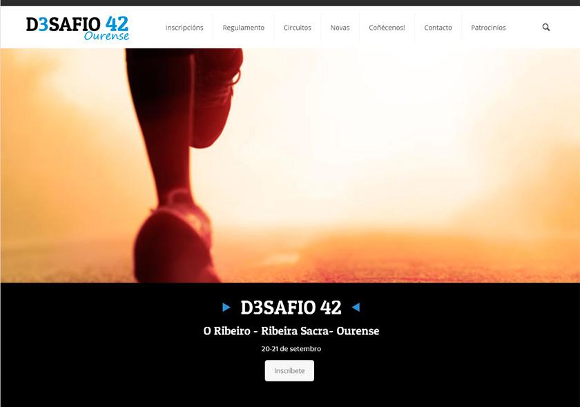 Diseño dinámico e informativo para la web de la carrera Desafío 42