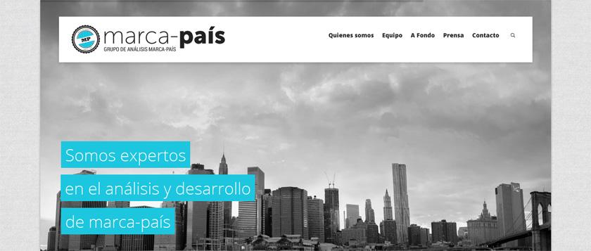 Pasquino desarrolla una web sobria y funcional para la consultora Marca-País