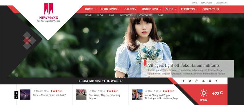 Las tres plantillas WordPress de la semana News-Maxx, Implicit y JAZ