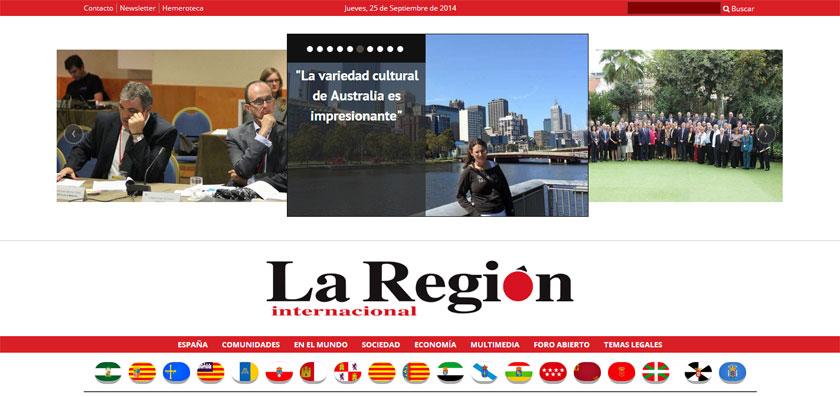 La Región Internacional afronta su casi medio siglo de vida con una nueva potente web