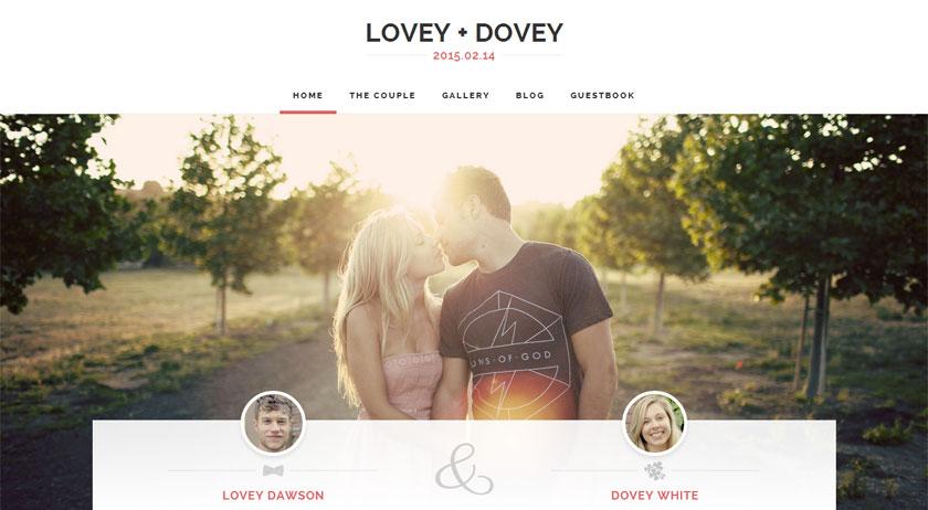 Las tres plantillas WordPress de la semana: Lovey Dovey, Qaween y Eternity