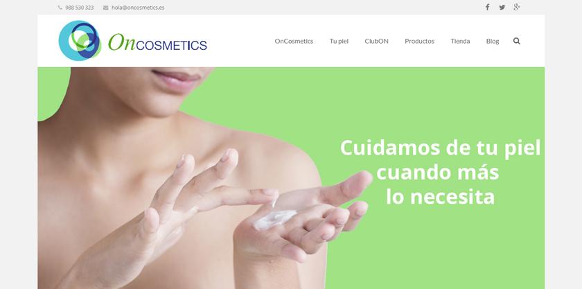 OnCosmetics se presenta con una web luminosa e informativa