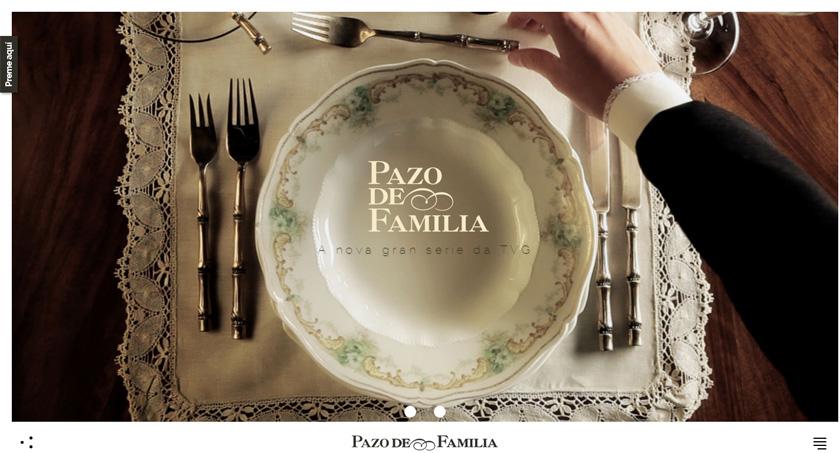 La serie de la TVG 'Pazo de familia' estrena una web cargada de material audiovisual