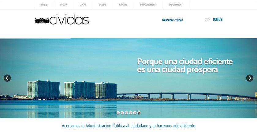cividas presenta su visión de una administración eficiente en una web moderna, clara y útil