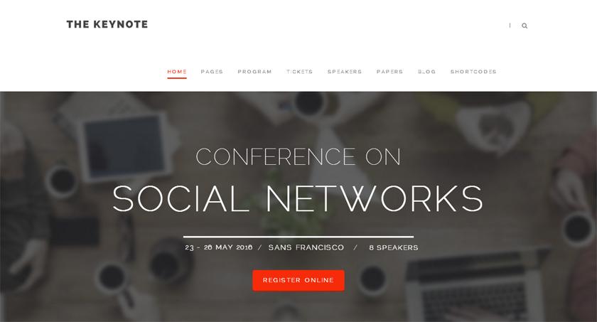 Las tres plantillas WordPress de la semana: The Keynote, Evential y Events