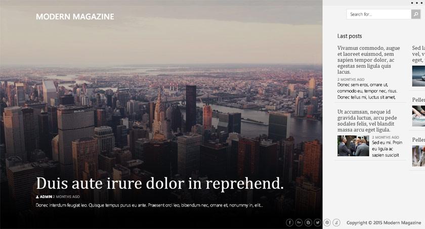 Las tres plantillas WordPress de la semana: Modern Magazine, Contrast y Reversal