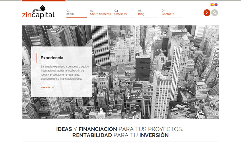 Zincapital presenta su proyecto de consultoría con una web moderna y directa