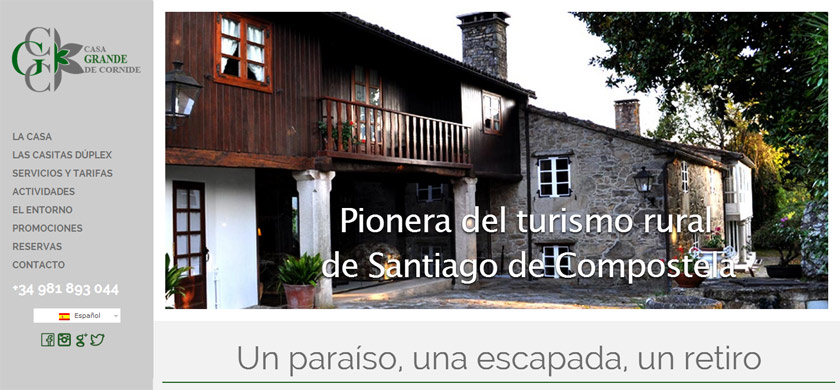Casa Grande de Cornide afronta una nueva etapa con una web moderna y accesible