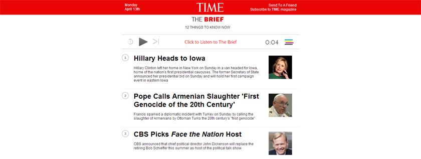 time-newsletter