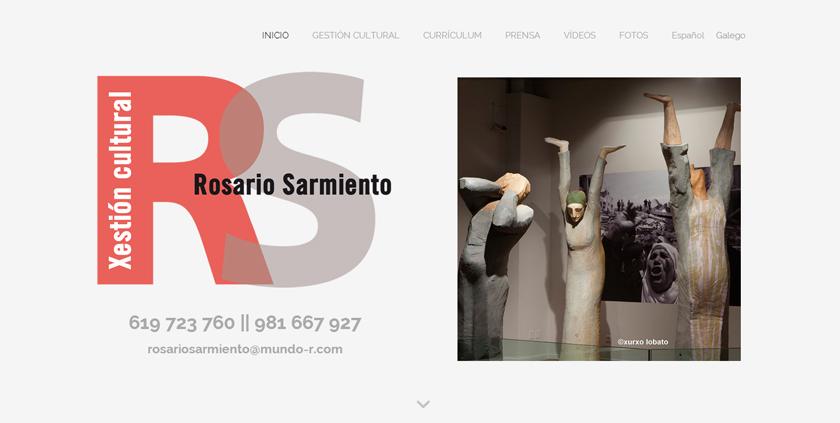 El trabajo de la gestora cultural Rosario Sarmiento, su gran referente en su nueva web