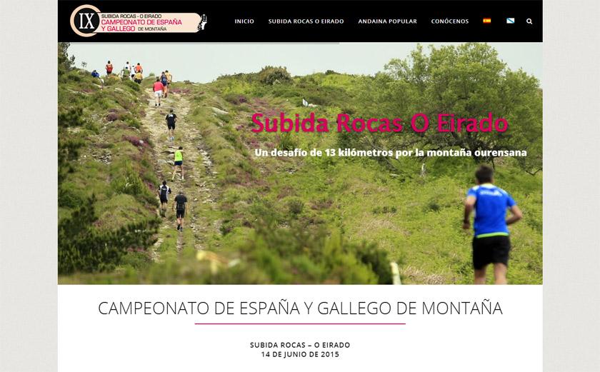 Esgos reta a los corredores de montaña con una informativa web para su Subida Rocas O Eirado
