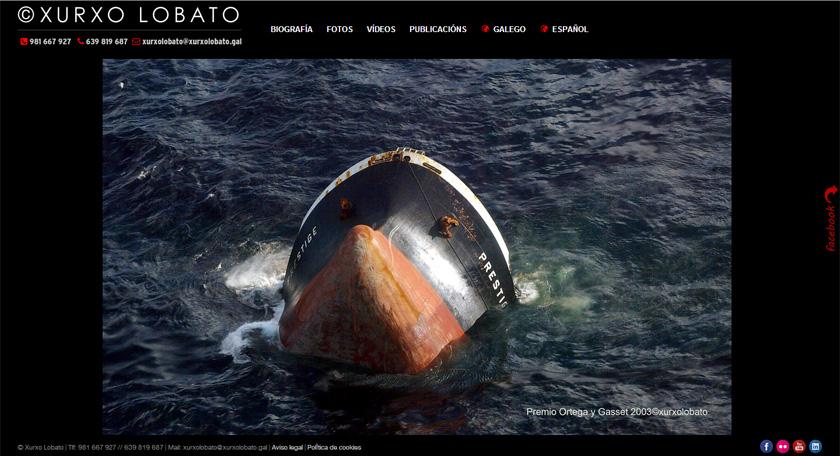 El fotógrafo Xurxo Lobato cede el protagonismo a sus imágenes en su nueva web