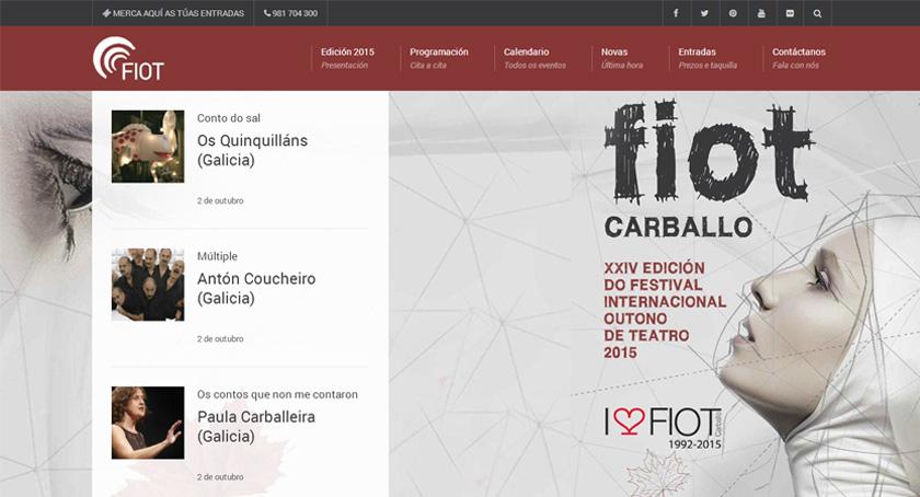 El festival de teatro de Carballo (FIOT) estrena web en su 24 edición