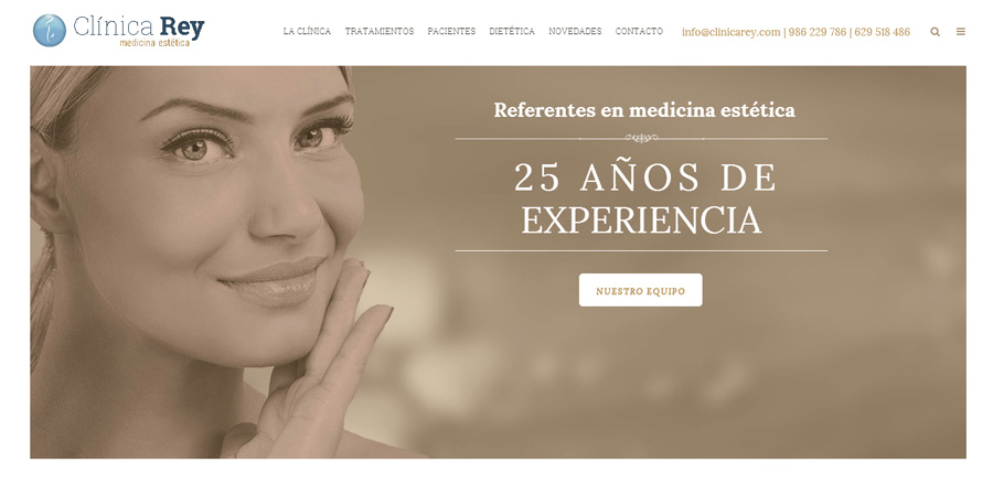 Clínica Rey moderniza su presencia digital con una nueva web de estilo clásico