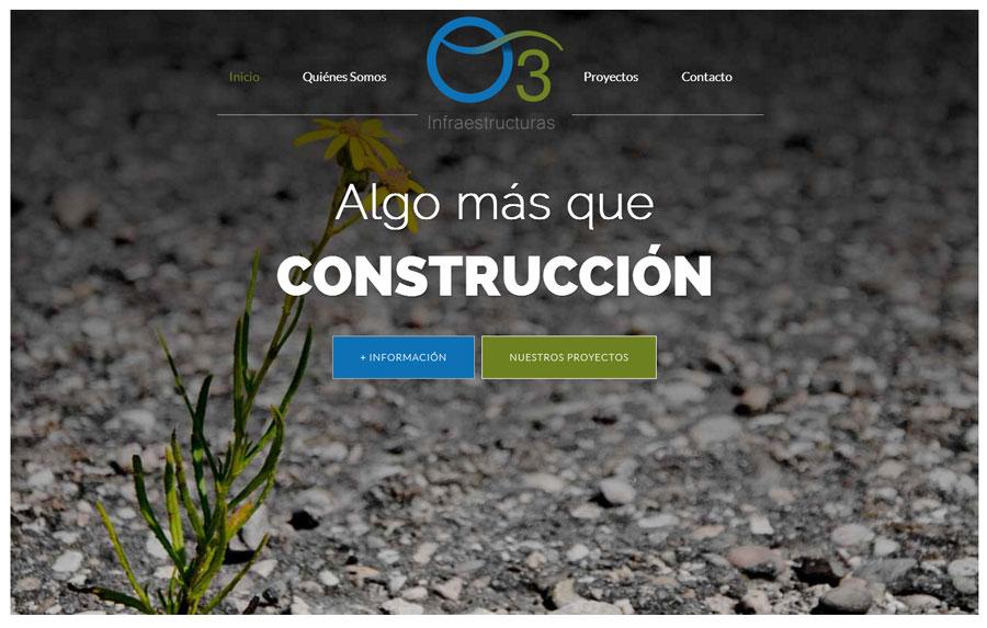 O3 Infraestructuras traslada a su web su apuesta por la modernidad en el diseño de espacios