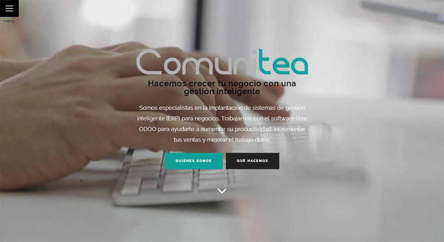 Comunitea, compañía referente de la gestión empresarial inteligente, estrena web