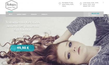 Peluquería Reflejos estrena web para cuidar a su clientela en la red