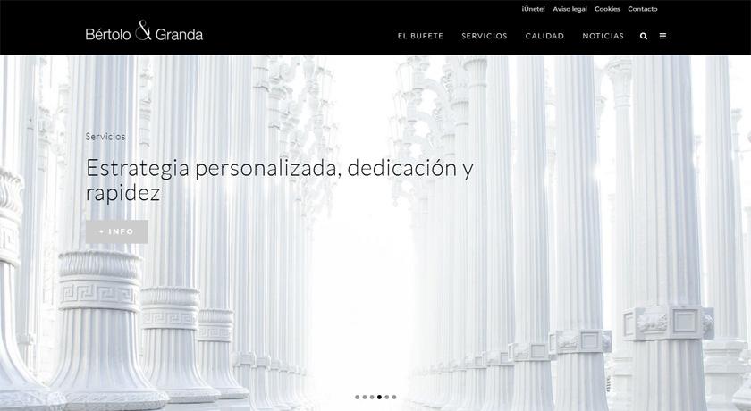 Bértolo & Granda llevan a su web el concepto de bufete boutique