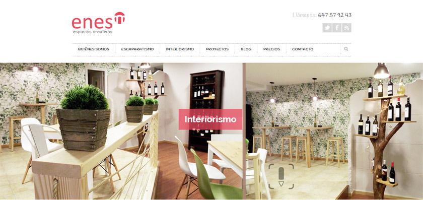 Diseño clásico y colorista para Enes Decoración, una empresa capaz de reinventar cualquier espacio