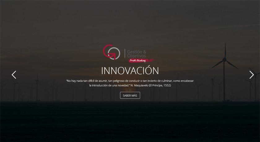 La consultora financiera Gestión y Objetivos estrena web, moderna y funcional