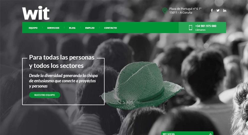 Wit Talento apuesta por un diseño más visual y adaptativo para el rediseño de su web